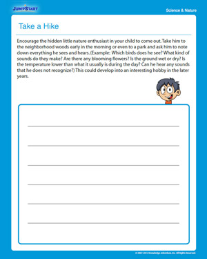 Take a Hike - Free Science Worksheet for 3rd Graders