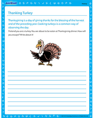 Thanking Thanksgiving - Free history worksheet for kids