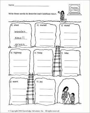 The Message: Descriptionary - Free English Worksheet for Kids