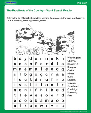 The Presidents of the Country - Free 4th Grade Social Studies Worksheet