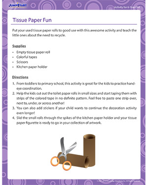 Tissue Paper Fun - Activity for 6-year olds