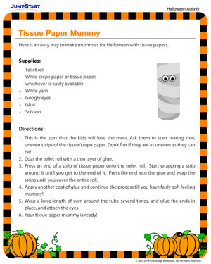 Tissue Paper Mummy - Fun Halloween Activities