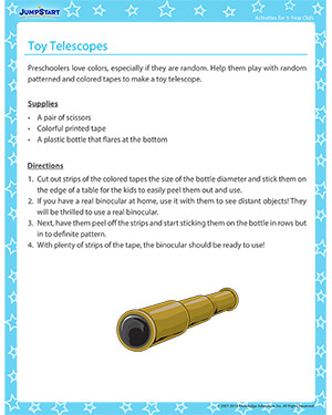 Toy Telescopes - Activity for 3-year olds