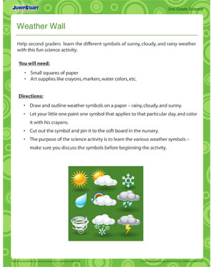 Weather Wall - Printable 2nd grade activity
