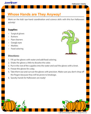 Whose Hands are They Anyway? - Fun Halloween Activities