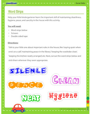 Word Strips - Social Skills Activity