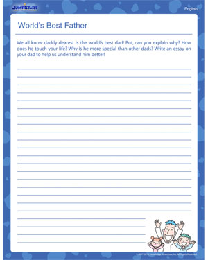 World's Best Father! – Worksheet for kids