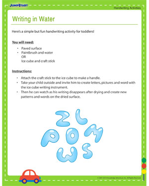 Writing in Water - Fun Activity to Improve Kids' Handwriting